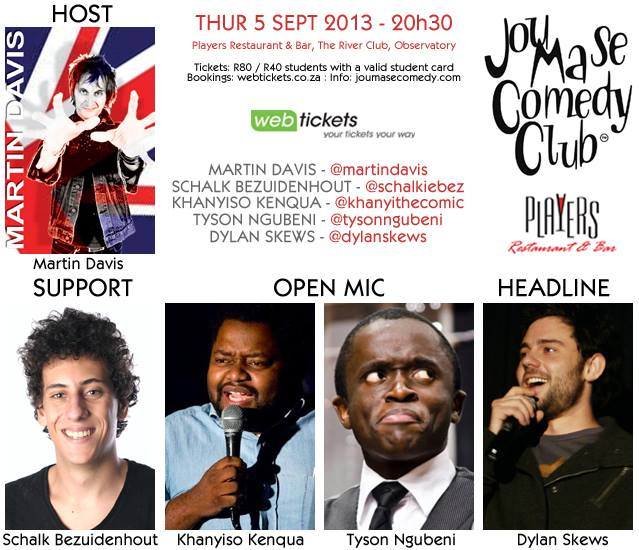 Some of Cape Town's top acts featured on the JMSCC roster on 5 September